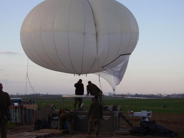 Globos en el cielo: la vigilancia aérea en la frontera con Gaza. (Fuerzas de Defensa de Isarel
