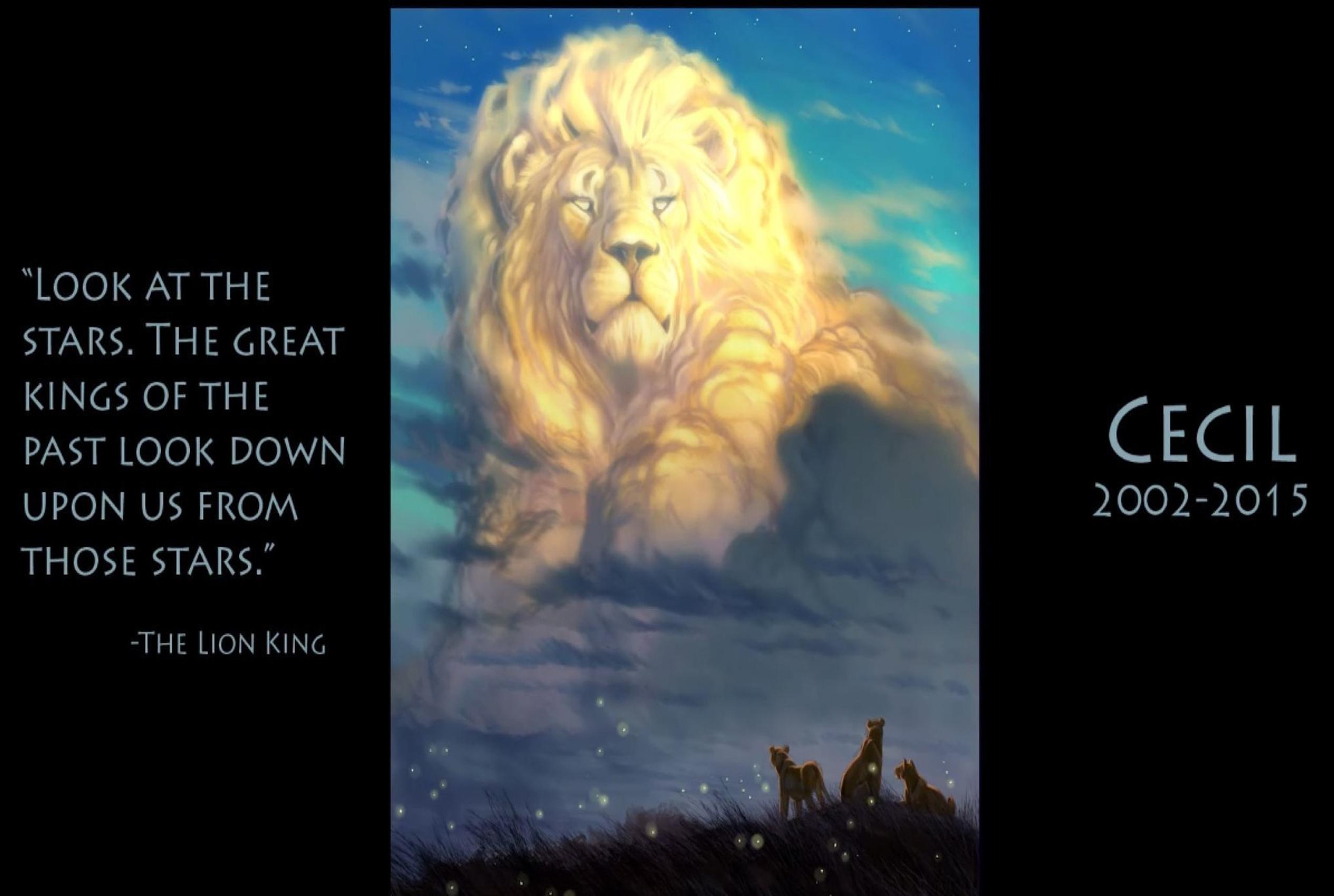 Dibujante de Disney crea hermoso homenaje a león Cecil