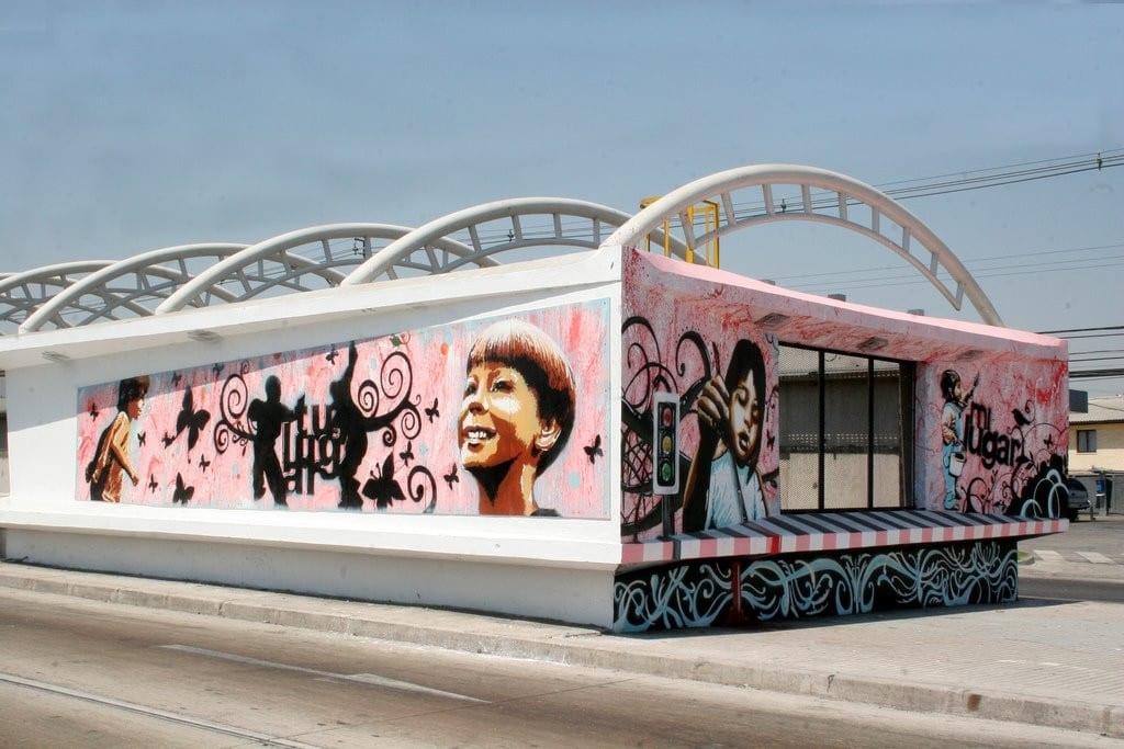 Una expresión de arte urbano reconocido como tal.