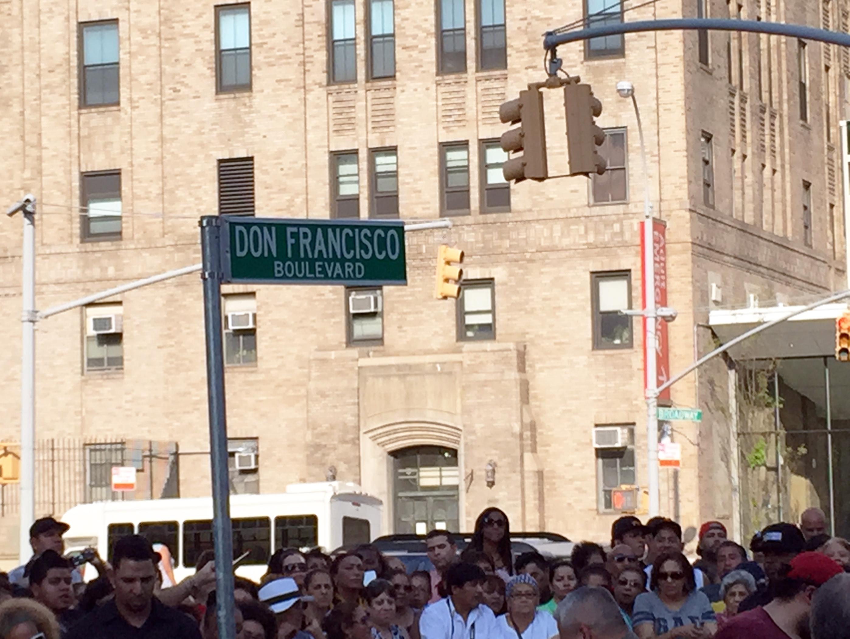 """Desde hoy """"Don Francisco"""" ya tiene su calle en Nueva York"""