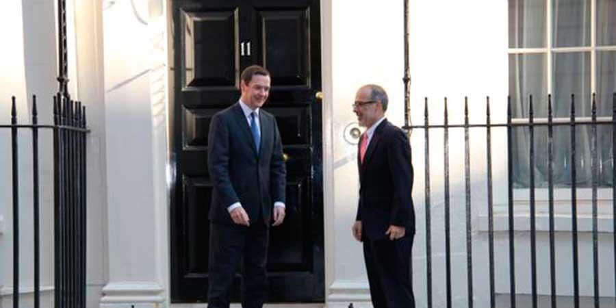 Ministro de Hacienda Rodrígo Valdés, visitó a su par inglés  George Osborne.