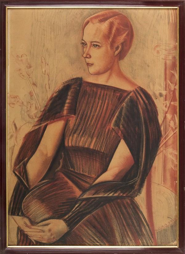 © Boris Grigoriev, Retrato, 1936, 96,5 x 69 cm , Colección Museo de Arte Contemporáneo (MAC), Universidad de Chile