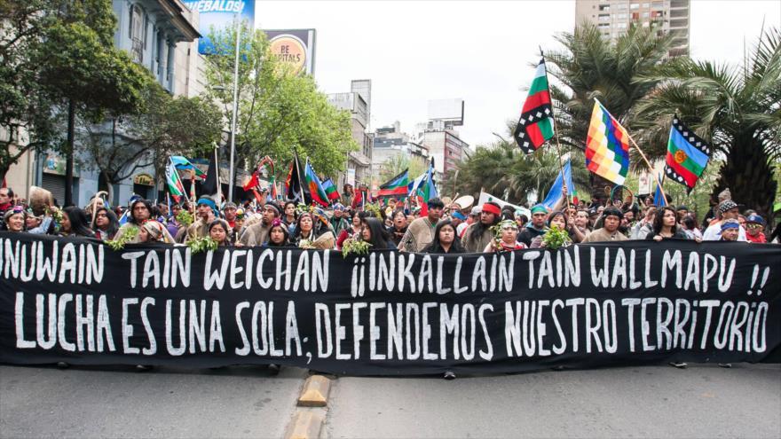 8 detenidos y 4 lesionados en Marcha por la Resistencia Mapuche