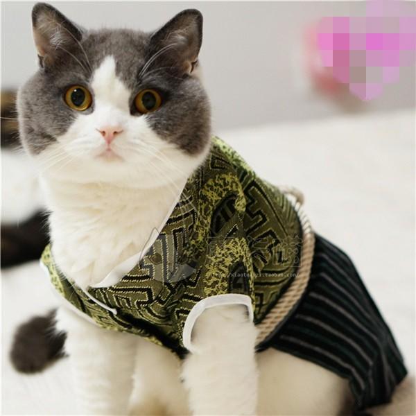 Estilo-de-japón-Kimono-samurai-gato-del-animal-doméstico-ropa-trajes-de-gato-perro-mascota-ropa