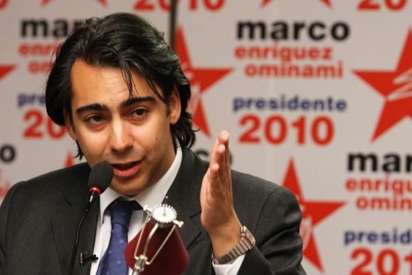 Marco Enríquez-Ominami, en plena campaña presidencial.