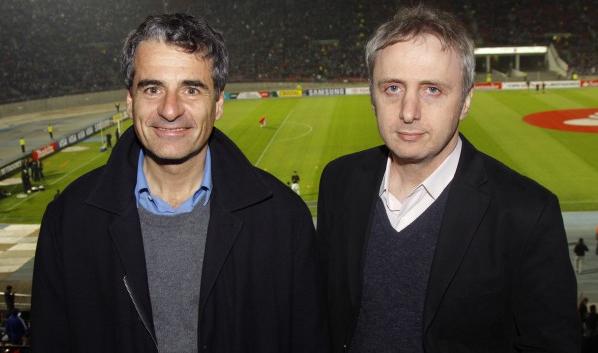 """Andrés Velasco junto a Pablo Halpern, otro """"desertor"""" de la Concertación."""
