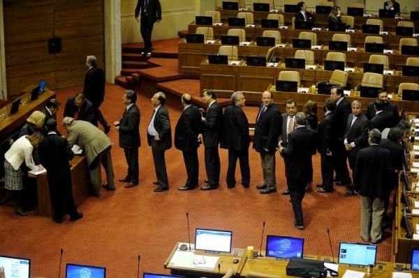 La foto lo dice todo: 34 de 120 diputados llegaron a sesión clave.