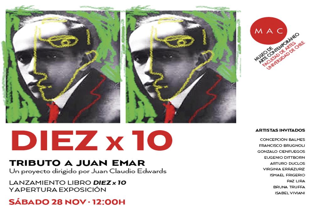MAC:Diez x 10, tributo a Juan Emar / Lanzamiento de libro + exhibición 28 NOV