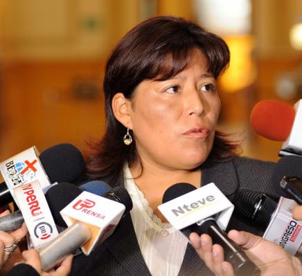 Vicepresidenta del Congreso peruano, Natalie Condori.