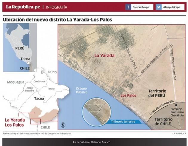 Prensa peruana así informa sobre el nuevo distrito que es territorio de soberanía chilena.