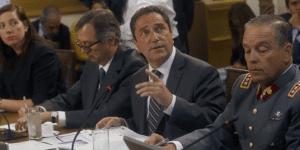 El ministro de Defensa, José Antonio Gómez junto al comandante den Jefe de Ejército, general  Humberto Oviedo debieron concurrir a la Comisión Investigadora que presidió el diputado DC Pilowsky.