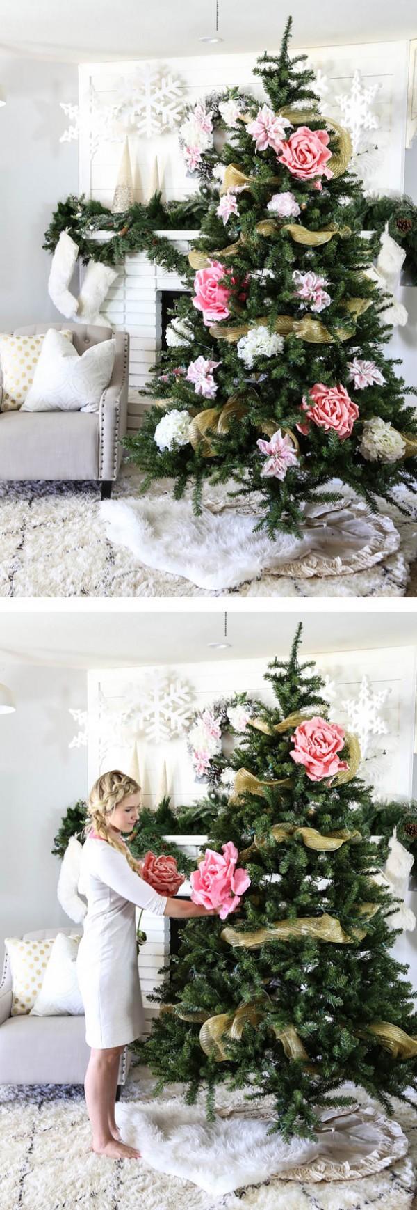 ideas-decoracion-arbol-navidad-flores-10