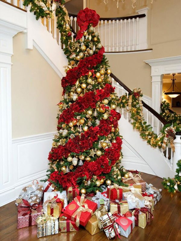 Arboles De Navidad Decorados Con Flores Infogate - Fotos-arboles-de-navidad-decorados