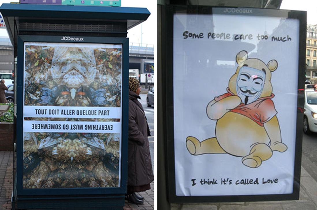 """París se llena de """"falsa publicidad"""" en contra de la Conferencia sobre el Cambio Climático"""