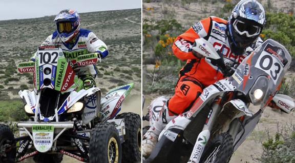Casale y Quintanilla lideran la representación chilena en el Dakar
