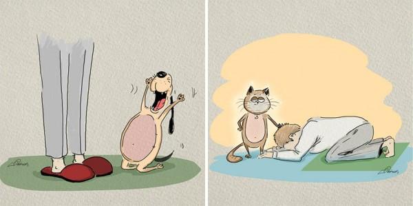 ilustraciones-diferencias-gatos-perros-bird-born-1