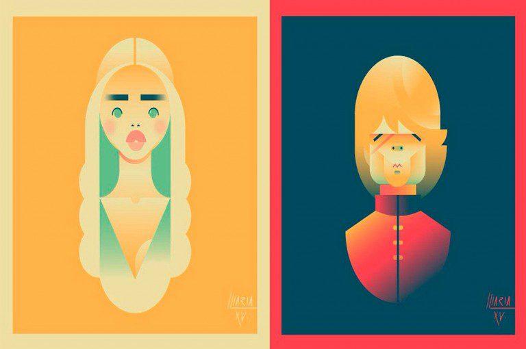 "Artista catalana crea retratos geométricos de ""Game of Thrones"""