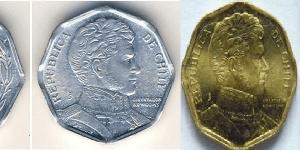 Monedas 1 y 5 pesos