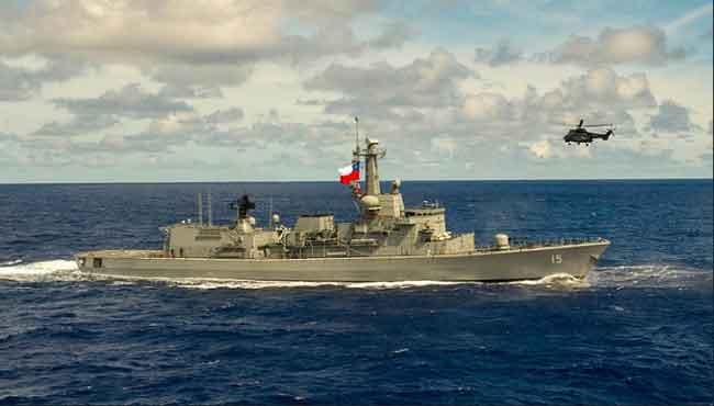"""Fragata """"Almirante Blanco Encalada""""  de la Armada de Chile."""