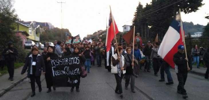 Ancud en pie de guerra y enojada con ministro Céspedes mantienen movilizaciones