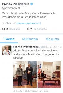 Tweet Bachelet Mario Teleton