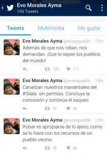 Tweets de Evo