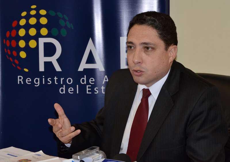 Héctor Arce, procurador general del Estado de Bolivia.