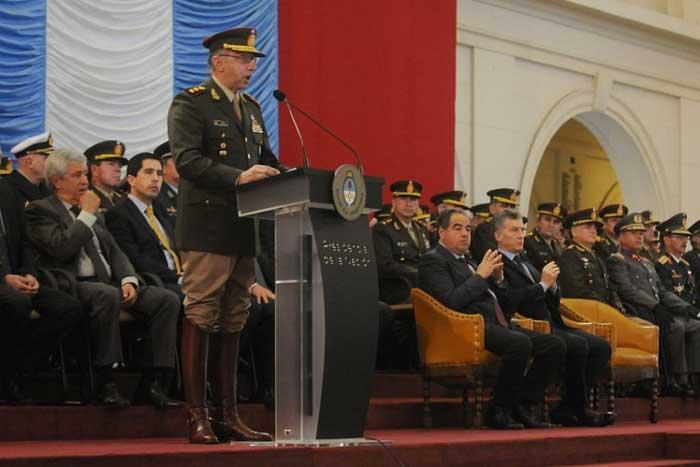A la conmemoración de los 206 años del Ejercito argentino asistió el comandante en jefe de Ejército de Chile, general Humberto Oviedo.