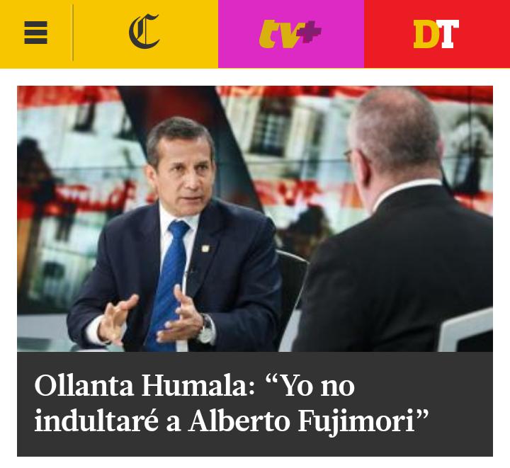 Humala no indultará a Alberto Fujimori