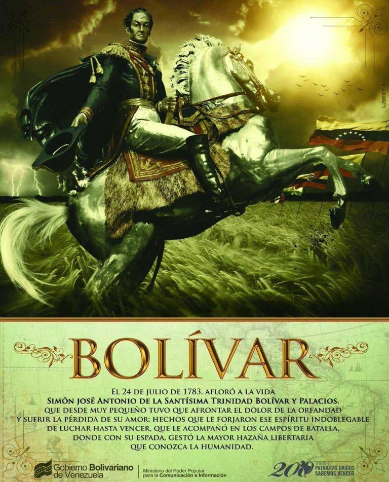 Venezuela conmemora natalicio de Simón Bolívar y día de la Marina