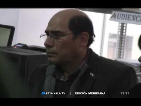 El ex general Zeballos en la audiencia de formalización.