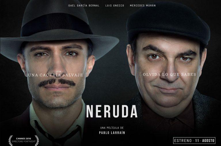 """""""NERUDA"""" La película más esperada del año presenta sus afiches promocionales"""