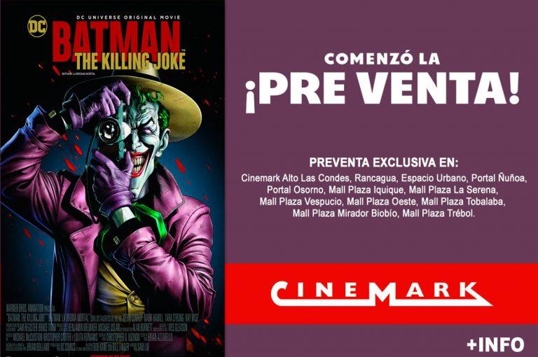 """Batman: La Broma asesina (""The Killing Joke"") se estrenará en Cinemark Chile"
