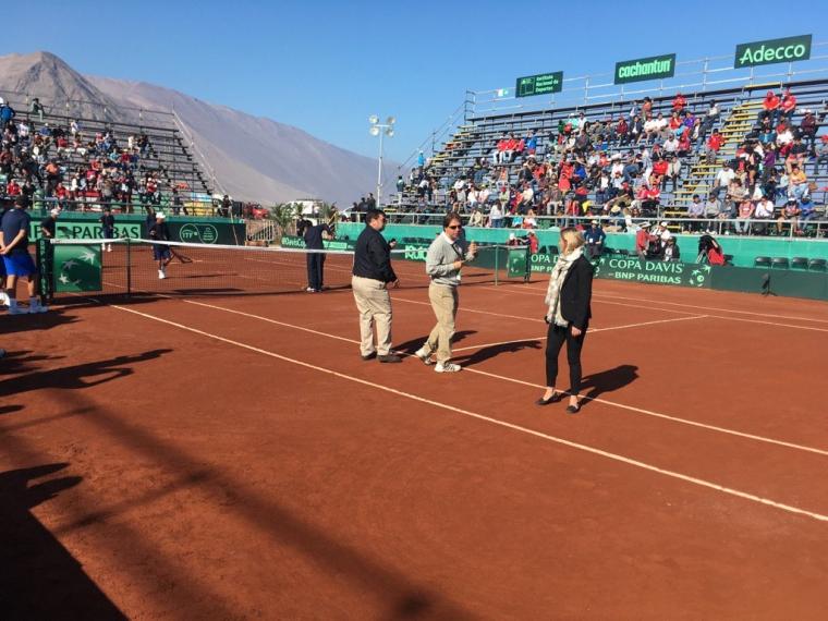 Aplazada la serie por Copa Davis entre Chile y Colombia