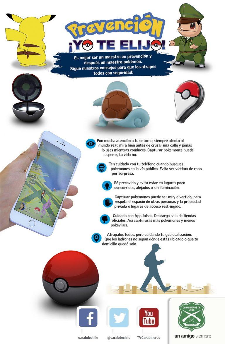 Chilenos se suman al fenómeno Pokemon go