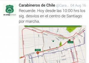 Twitter Carabineros Marcha