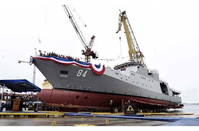 Presidenta Bachelet bautiza nuevo buque de la Armada construido en ASMAR Talcahuano