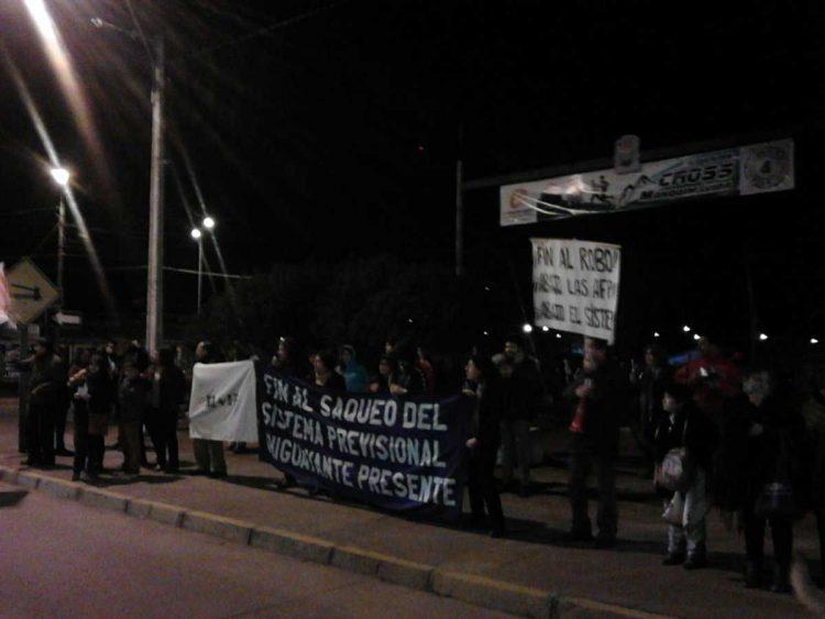 Chiguayante en la noche del miércoles 10 de agosto.