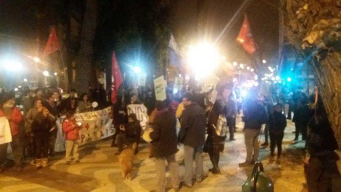 En Valparaíso, también se congregaron a  manifestarse contra las AFP.