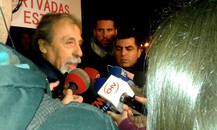 Luis Mesina, uno de los líderes de No+AFP durante el cacerolazo.
