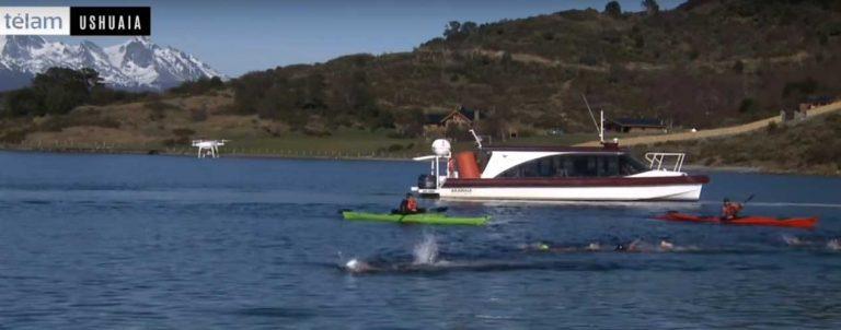 """Canal Beagle: """"Nadadores del fin del mundo"""" parten desde Puerto Navarino a Ushuaia"""