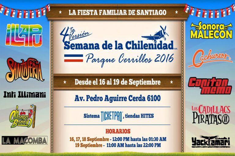 """Panoramas dieciocheros: """"Fiesta de la Chilenidad Cerrillos 2016"""""""