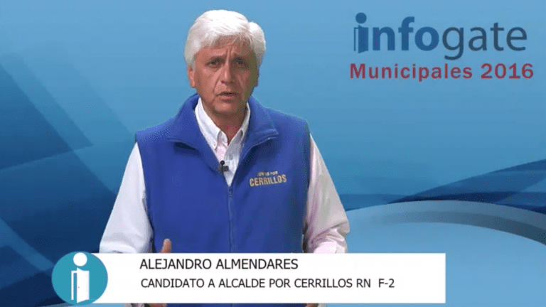 Alejandro Almendares, candidato a alcalde por Cerrillos