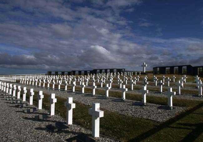 Cementerio de Darwin, en las Falkland.