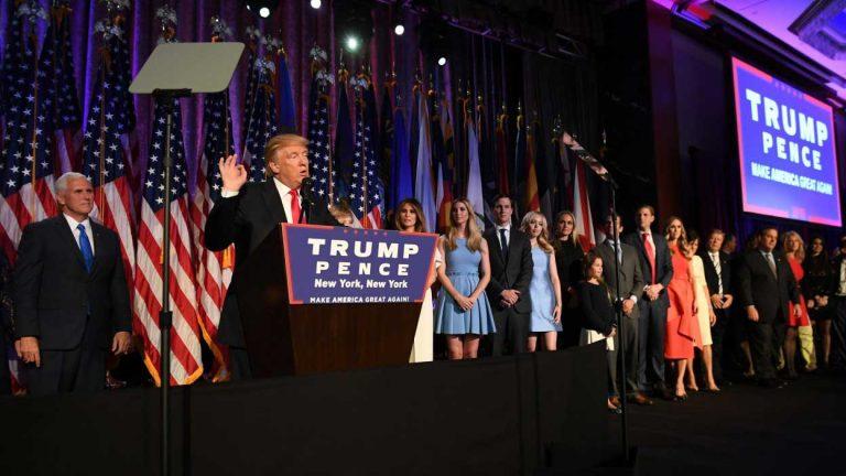 """Donald Trump Presidente de los Estados Unidos: """"Seré Presidente de todos los estadounidenses"""""""