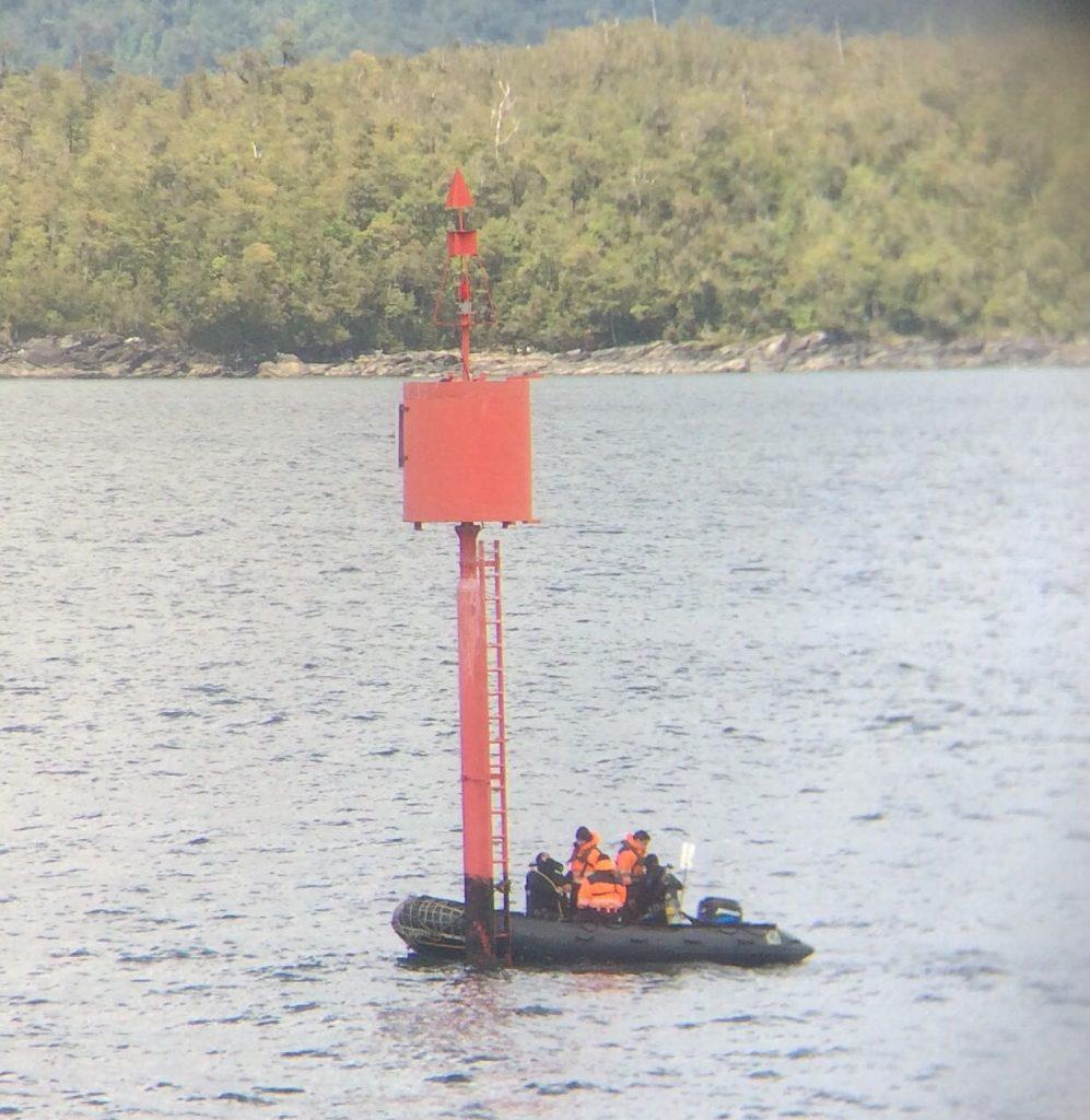 Armada finaliza mantenimiento de 500 señalizaciones marítimas en Los Lagos y Aysén