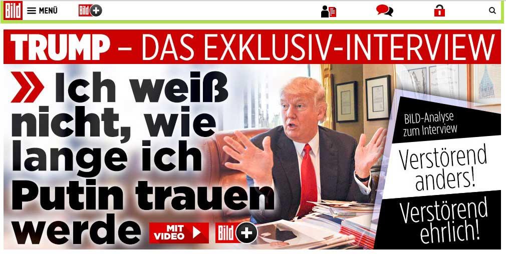 Entrevista de Trump a diario alemán genera desconcierto en Berlín