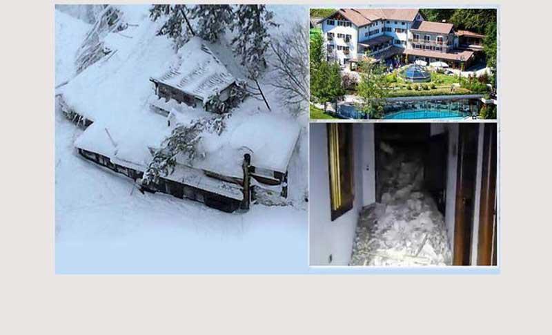 Italia: avalancha sepulta hotel Rigopiano…todos los huéspedes podrían estar muertos