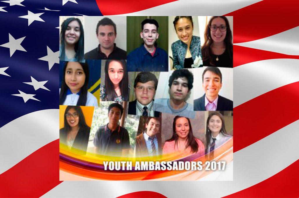 Embajada de Estados Unidos da a conocer el listado de los jóvenes que representarán a Chile en viaje de estudios