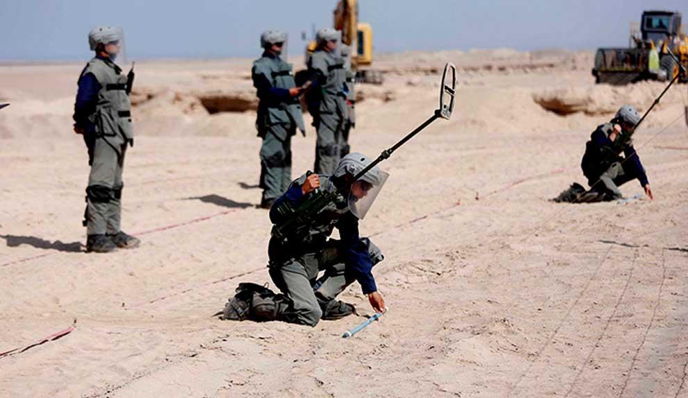 Desminado: Chile cumple compromiso internacional y aumenta a 113.936m² la superficie declarada libre de minas antipersonales